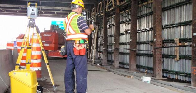 Implantation pour la refection des culées au viaduc Sherbrooke
